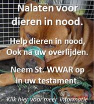 Nalaten voor dieren in nood.
